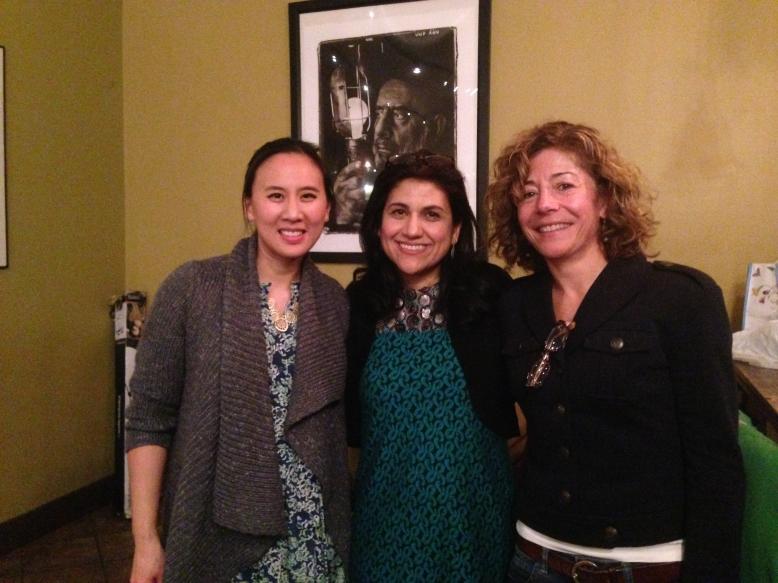 Celeste Ng, Marjan Kamali and Henriette Lazaridis